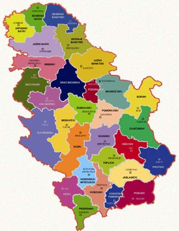 karta srbije okruzi Okruzi Srbije karta srbije okruzi